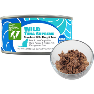 Only Natural Pet Shredded Canned Wild Tuna Supreme