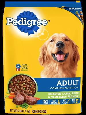 Pedigree Adult Complete Nutrition Roasted Lamb, Rice & Vegetable Flavor