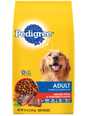 Pedigree Adult Complete Nutrition Grilled Steak & Vegetable Flavor