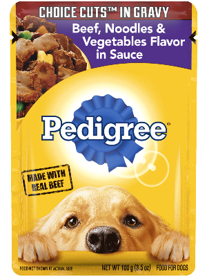 Pedigree Choice Cuts In Gravy Beef, Noodles & Vegetables Flavor In Sauce