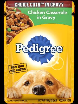 Pedigree Choice Cuts In Gravy Chicken Casserole In Gravy