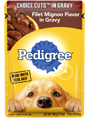 Pedigree Choice Cuts In Gravy Filet Mignon Flavor In Gravy