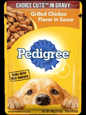 Pedigree Choice Cuts In Gravy Grilled Chicken Flavor In Sauce
