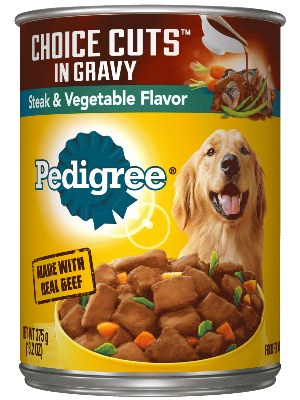 Pedigree Choice Cuts In Gravy Steak & Vegetable Flavor
