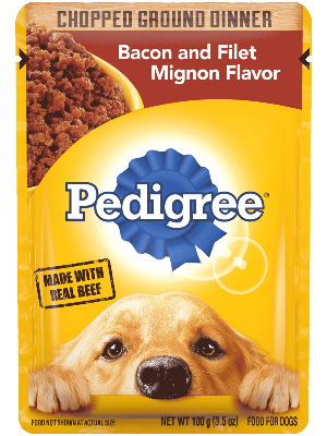 Pedigree Chopped Ground Dinner Bacon and Filet Mignon Flavor