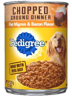 Pedigree Chopped Ground Dinner Filet Mignon & Bacon Flavor