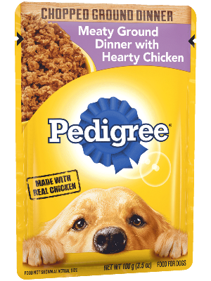 Pedigree Chopped Ground Dinner Meaty Ground Dinner With Hearty Chicken