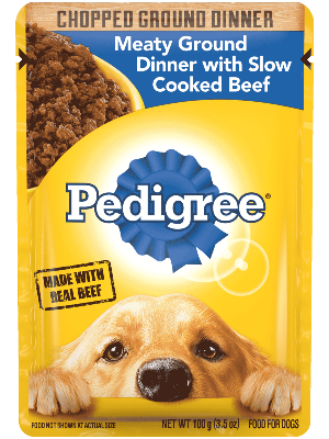 Pedigree Chopped Ground Dinner Meaty Ground Dinner With Slow Cooked Beef