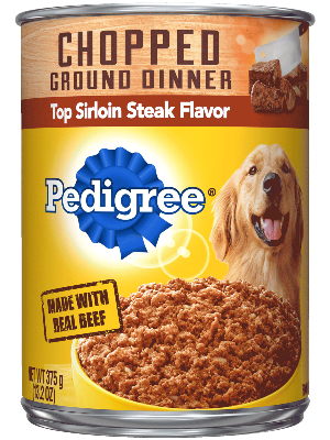 Pedigree Chopped Ground Dinner Top Sirloin Steak Flavor