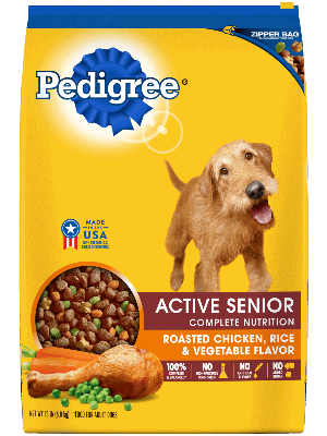 Pedigree Active Senior Complete Nutrition Roasted Chicken, Rice & Vegetable Flavor