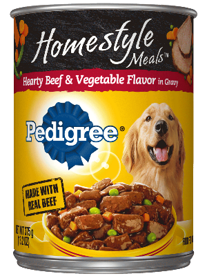 Pedigree Homestyle Meals Hearty Beef & Vegetable Flavor In Gravy