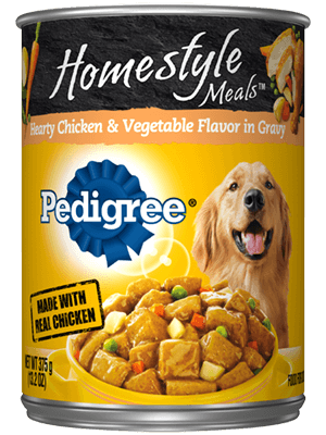 Pedigree Homestyle Meals Hearty Chicken & Vegetable Flavor In Gravy
