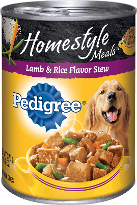 Pedigree Homestyle Meals Lamb & Rice Flavor Stew