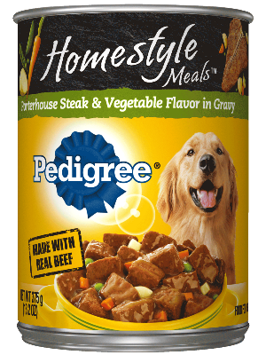 Pedigree Homestyle Meals Porterhouse Steak & Vegetable Flavor In Gravy