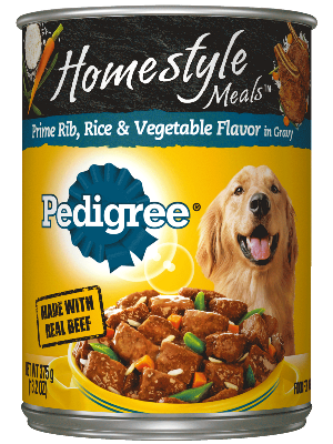 Pedigree Homestyle Meals Prime Rib, Rice & Vegetable Flavor In Gravy