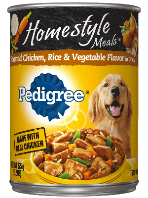 Pedigree Homestyle Meals Roasted Chicken, Rice & Vegetable Flavor In Gravy