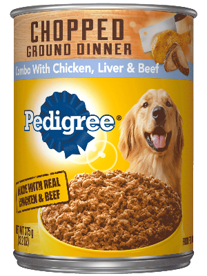 Pedigree Chopped Ground Dinner Combo With Chicken, Liver & Beef