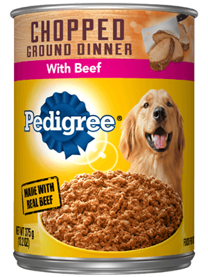 Pedigree Chopped Ground Dinner With Beef