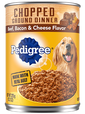 Pedigree Chunky Ground Dinner With Beef, Bacon & Cheese Flavor