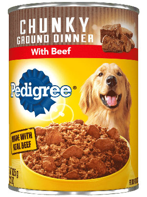 Pedigree Chunky Ground Dinner With Beef