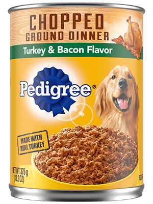 Pedigree Chunky Ground Dinner With Turkey & Bacon