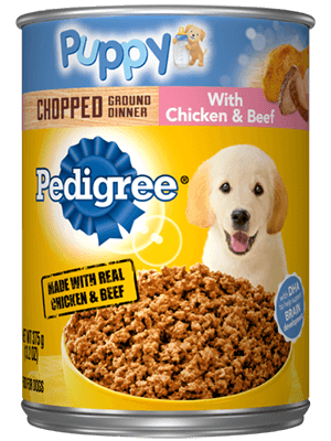 Pedigree Puppy Chopped Ground Dinner With Chicken & Beef
