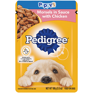 Pedigree Puppy Morsels In Sauce With Chicken