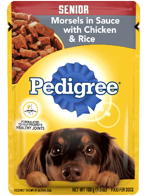 Pedigree Senior Morsels In Sauce With Chicken & Rice