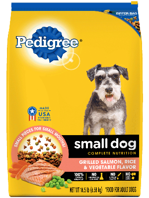 Pedigree Small Dog Complete Nutrition Grilled Salmon, Rice & Vegetable Flavor