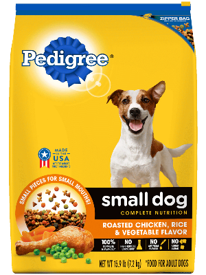Pedigree Small Dog Complete Nutrition Roasted Chicken, Rice & Vegetable Flavor