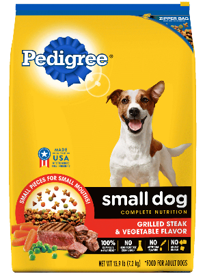Pedigree Small Dog Complete Nutrition Grilled Steak & Vegetable Flavor