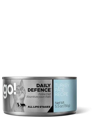 Petcurean Go! Daily Defence Turkey Pate Recipe For Cats