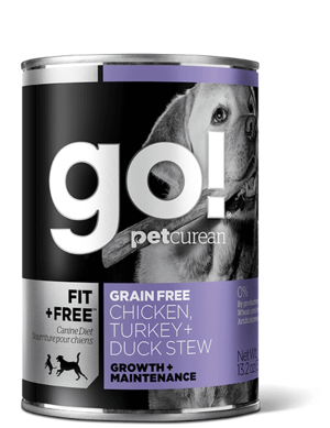 Petcurean Go! Fit + Free Grain Free Chicken, Turkey + Duck Stew