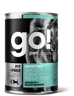 Petcurean Go! Fit + Free Grain Free Chicken, Turkey + Trout Stew