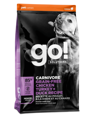 Petcurean Go! Fit + Free Grain Free Senior Recipe (Chicken, Turkey, Trout)