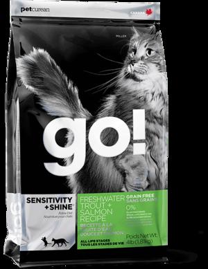 Petcurean Go! Sensitivity + Shine Grain Free Freshwater Trout + Salmon Recipe For Cats