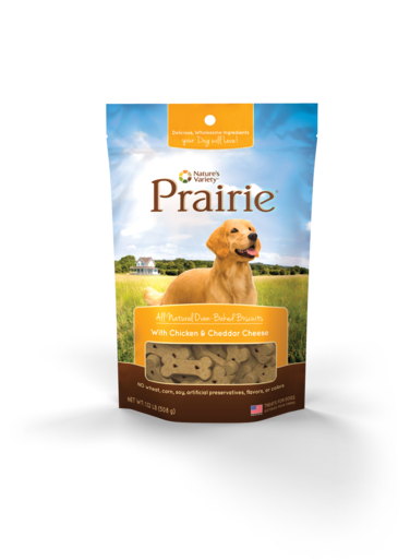 Nature's Variety Prairie All Natural Oven-Baked Biscuits With Chicken & Cheddar Cheese