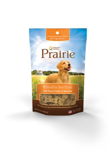 Nature's Variety Prairie All Natural Oven-Baked Biscuits With Peanut Butter & Bananas