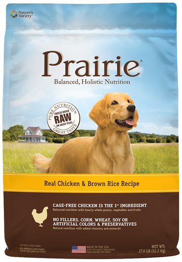 Nature's Variety Prairie Kibble For Dogs Real Chicken & Brown Rice Recipe