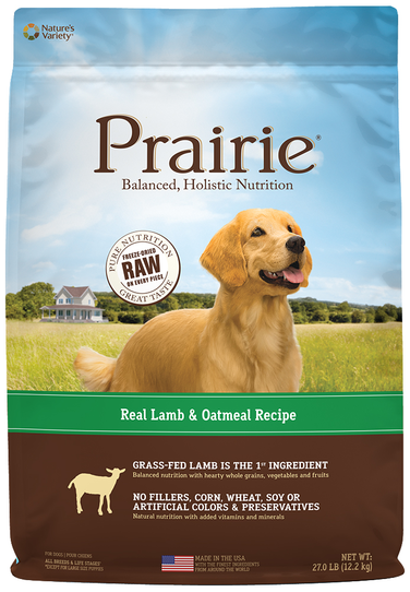 Nature's Variety Prairie Kibble For Dogs Real Lamb & Oatmeal Recipe