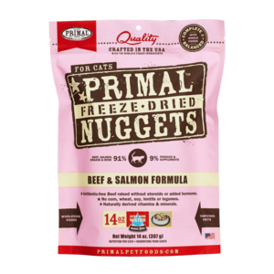Primal Freeze-Dried Formulas Freeze-Dried Feline Beef and Salmon Formula