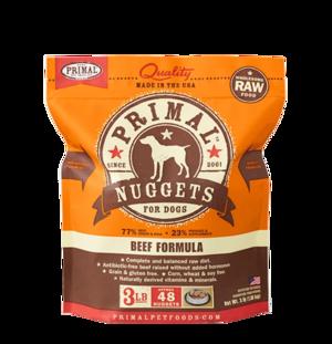 Primal Raw Frozen Formulas Canine Beef Formula