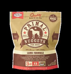 Primal Raw Frozen Formulas Canine Lamb Formula