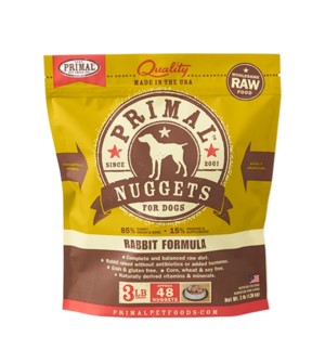 Primal Raw Frozen Formulas Canine Rabbit Formula