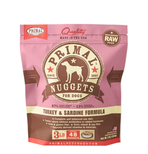 Primal Raw Frozen Formulas Canine Turkey and Sardine Formula