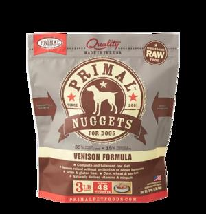 Primal Raw Frozen Formulas Canine Venison Formula