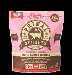 Primal Raw Frozen Formulas Feline Beef and Salmon Formula