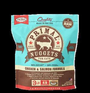 Primal Raw Frozen Formulas Feline Chicken and Salmon Formula