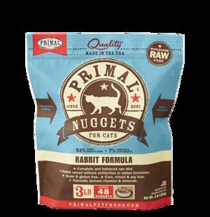 Primal Raw Frozen Formulas Feline Rabbit Formula