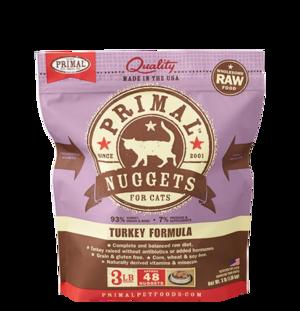 Primal Raw Frozen Formulas Feline Turkey Formula
